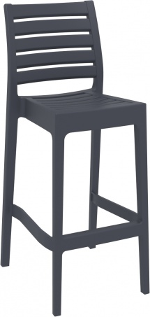 Kunststof barkruk Ares Siesta dark grey (1)