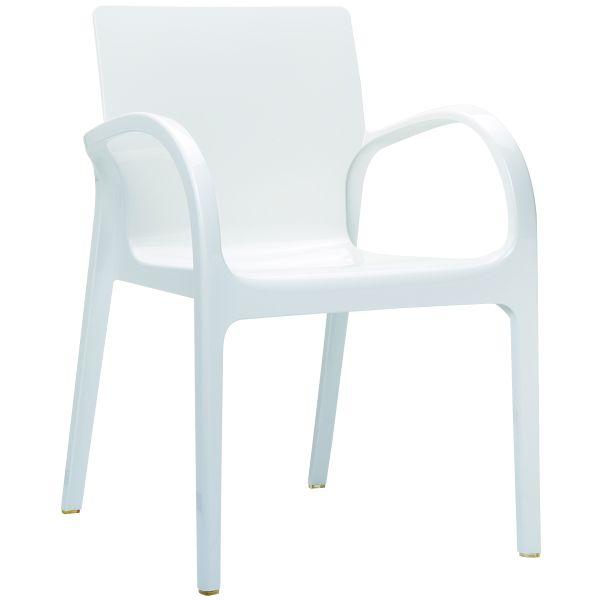 Designstoel Dejavu glossy/white