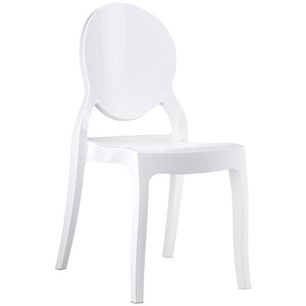 designstoel Elizabeth glossy white