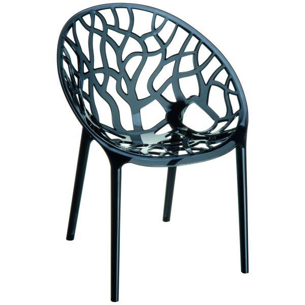 Designstoel Crystal zwart/transparant 1