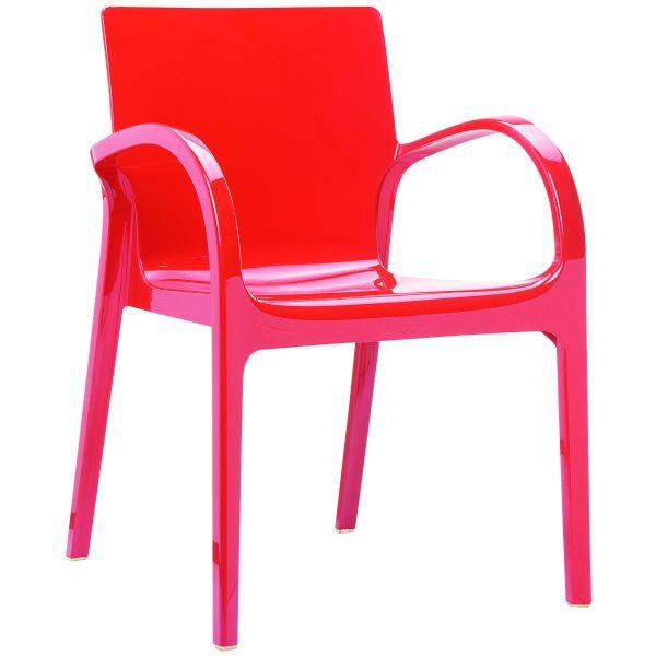 Designstoel Dejavu glossy/rood