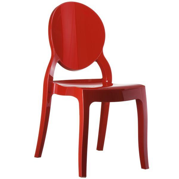 designstoel Elizabeth glossy rood