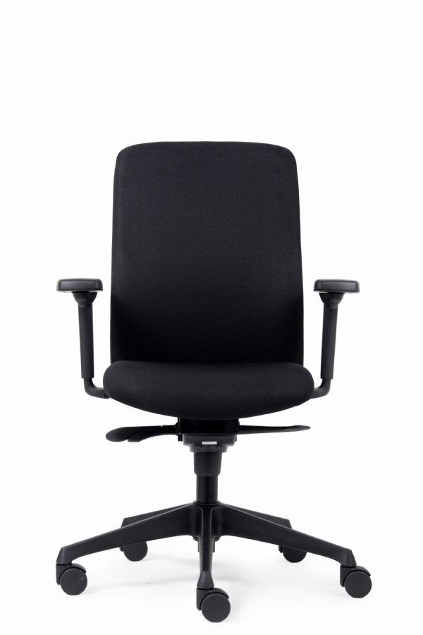 Bureaustoel NEN EN 1335model Nina in zwart met armleggers (1)