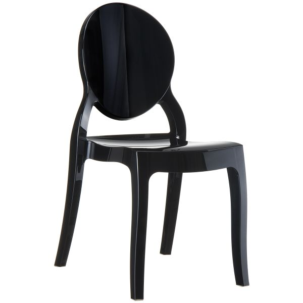 designstoel elizabeth glossy zwart
