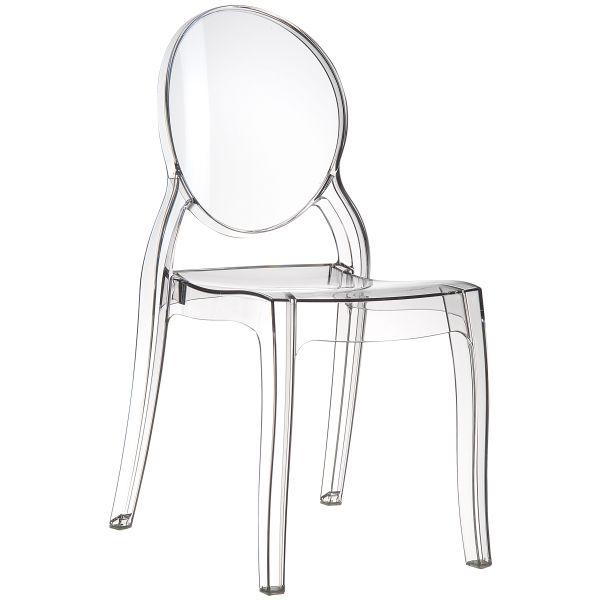 designstoel Elizabeth clear/transparant 1