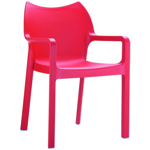 designstoel Diva rood 1