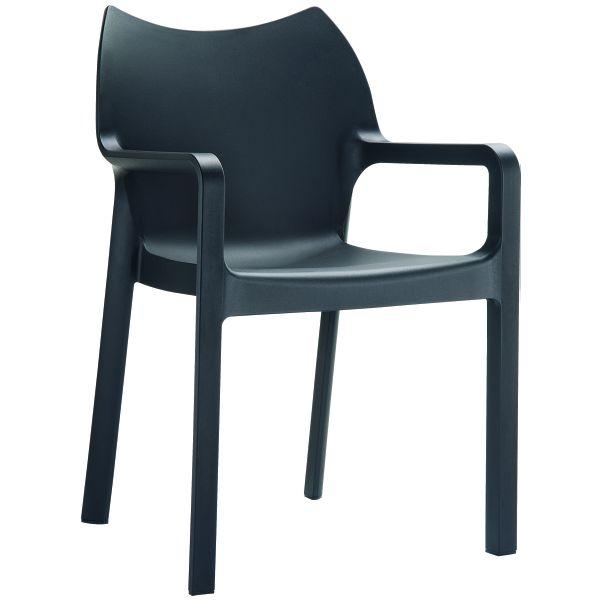 Designstoel Diva zwart