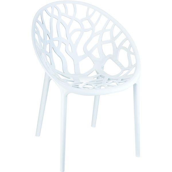 Designstoel crystal glossy/white 1
