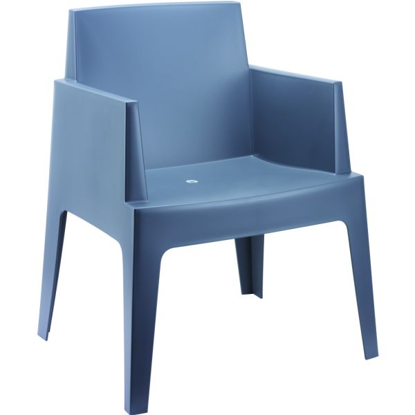 Designstoel Box donkergrijs