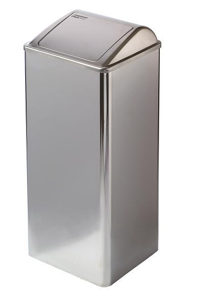 Grote 80 liter afvalbak hoogglans RVS Mediclinics voor keuken, restaurant, horeca of medisch instelling (1)