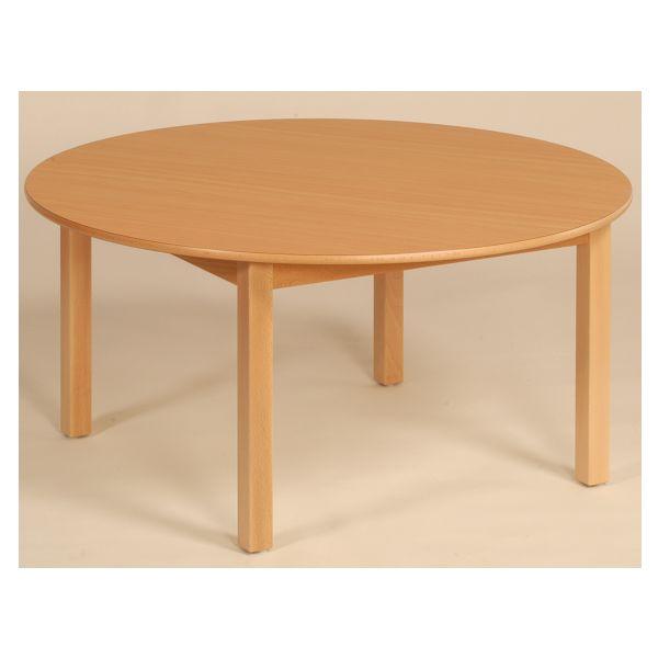 houtentafel rond