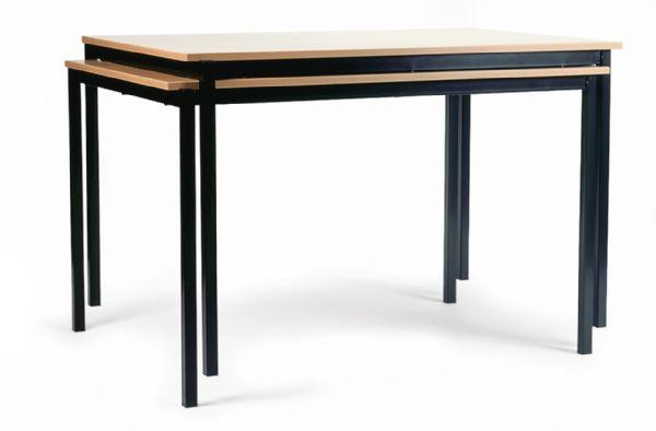 Stapelbare tafel Pure model 1137 120x60cm met vierkante poten (1)