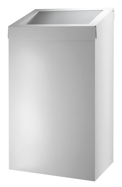 Grote afvalbak 50 liter wit gesloten model ACBB50EP voor sanitair of horeca gebruik (1)