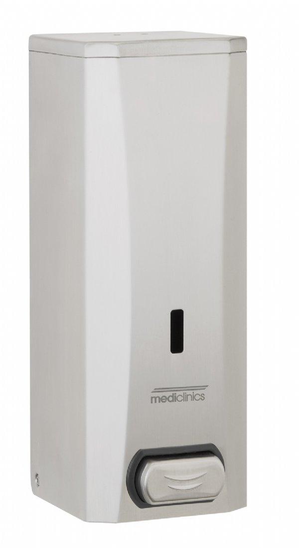 RVS hand zeepdispenser 1500ml Mediclinics DJ0040CS voor toilet of sanitair ruimten in kantoren of bedrijven (1)