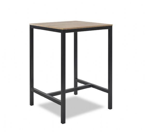 Stoere statafel Solid model 1400, hoogte 112cm, afmeting 80x80cm in 10 bladkleuren en 6 frame kleuren leverbaar (1)