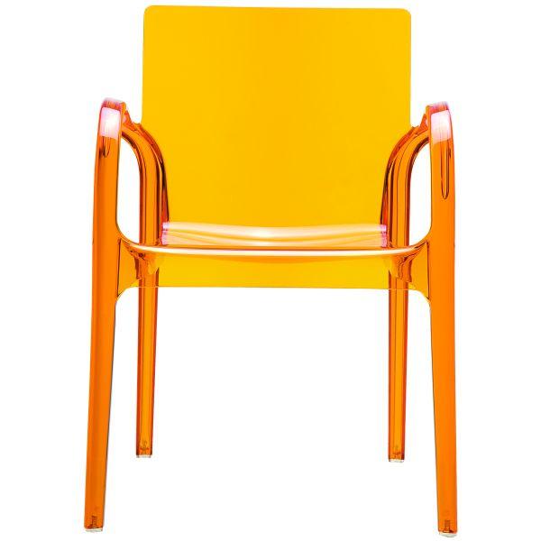 Designstoel Dejavu oranje/transparant 1