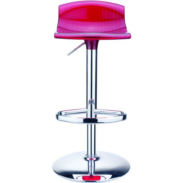 design barkruk Aria rood/transparant