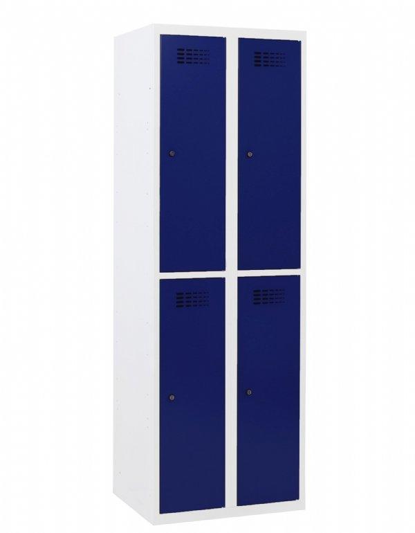 Garderobekast met 4 halve delen model Classic in diverse Ral kleuren voor bedrijven en onderwijsinstellingen (1)