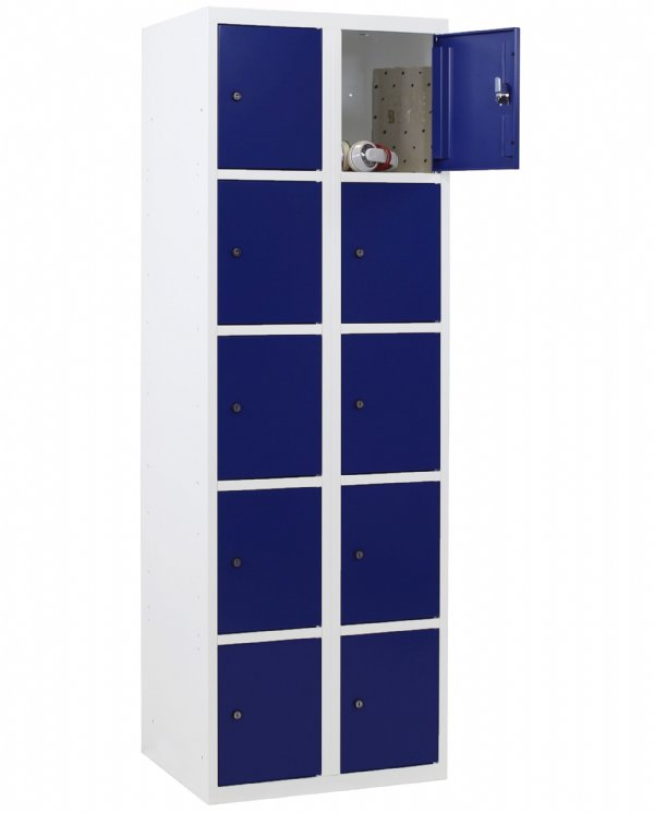 Lockerkast 10 vakken en deurenkolombreedte 300mm en keuze uit verschillende Ral kleuren zonder meerprijs (1)