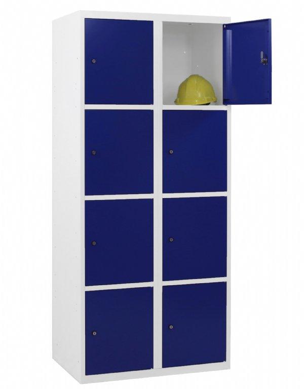 Locker kopen? uitvoering met 8 vakken en deuren in vele Ral kleuren samen te stellen (1)