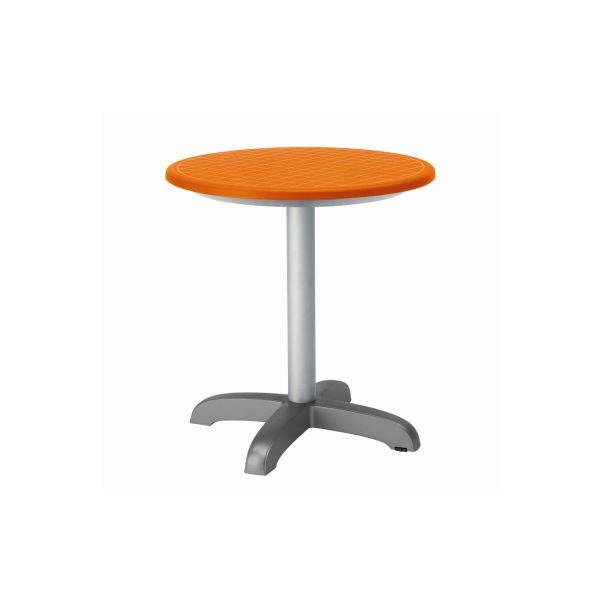 designtafel Dodo 75cmn hoog rond oranje