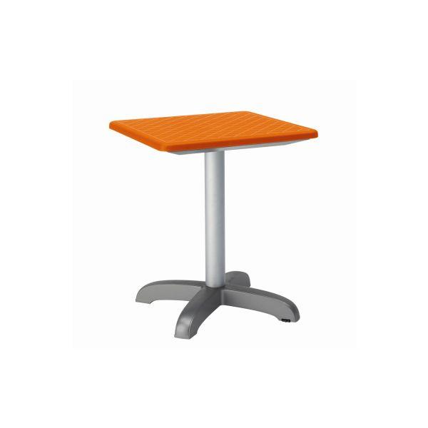 Designtafel Dodo 75cm hoog vierkant oranje
