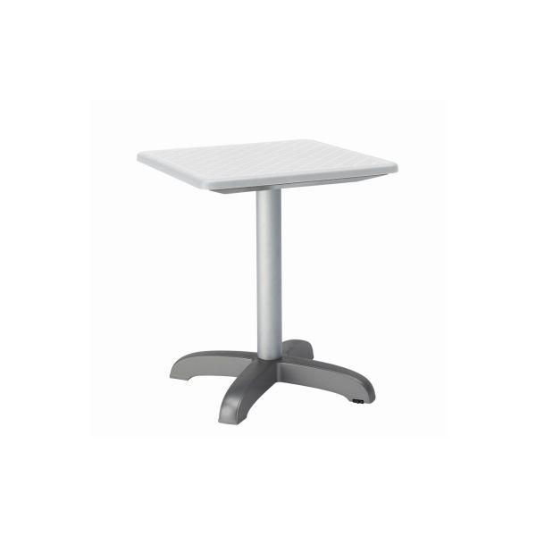 Designtafel Dodo 75 hoog vierkant ivoor