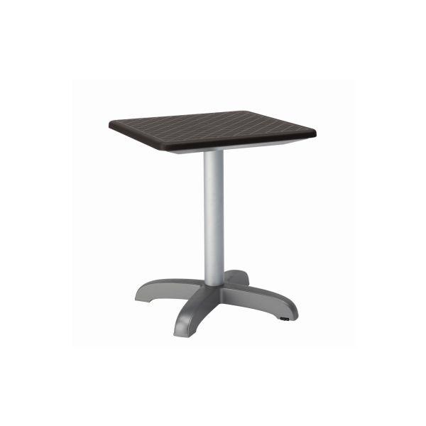 Designtafel Dodo 75cm hoog antraciet vierkant