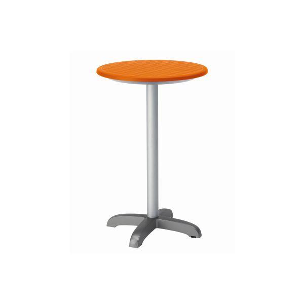 designtafel 110cm hoog rond oranje