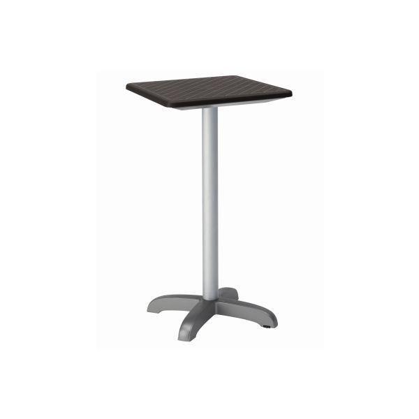 designtafel Dodo 110cm hoog vierkant antraciet