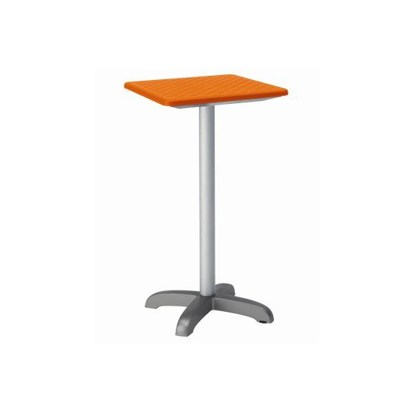 designtafel Dodo 110cm hog vierkant oranje