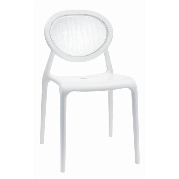 Super Gio designstoel SCAB ivoor/transparant 2316201