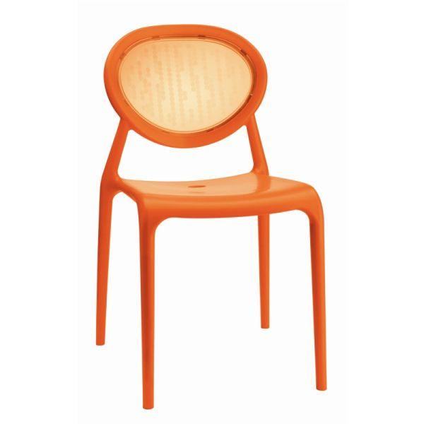 Super Gio designstoel SCAB oranje/transparant oranje 2316205