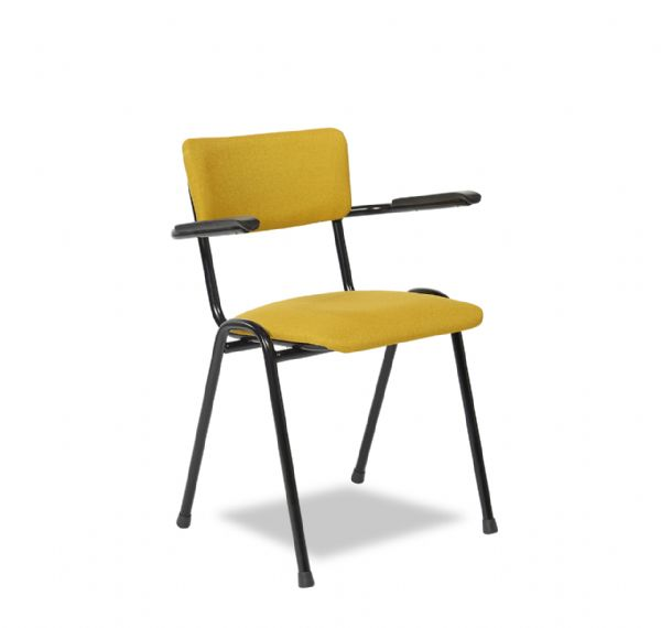 Bezoekersstoel Pure model 3305 met armleggers met prima zitcomfort (1)