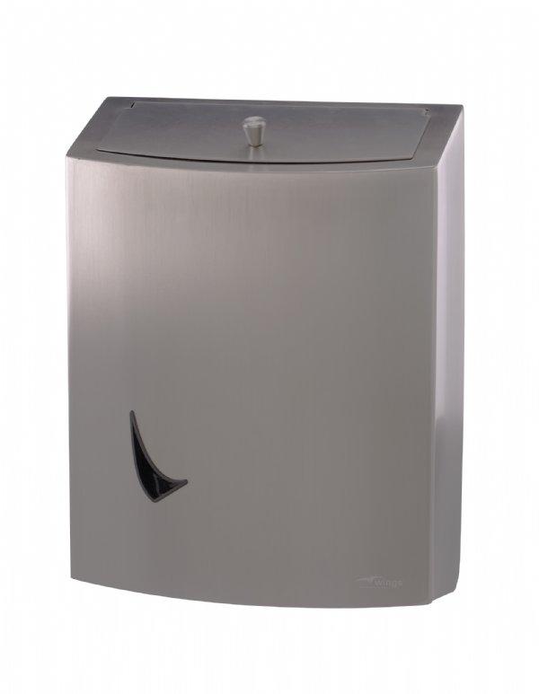 Wings RVS afvalbak 9 liter gesloten model WINWBC9SAL met anti fingerprint coating voor optimale hygiëne (1)