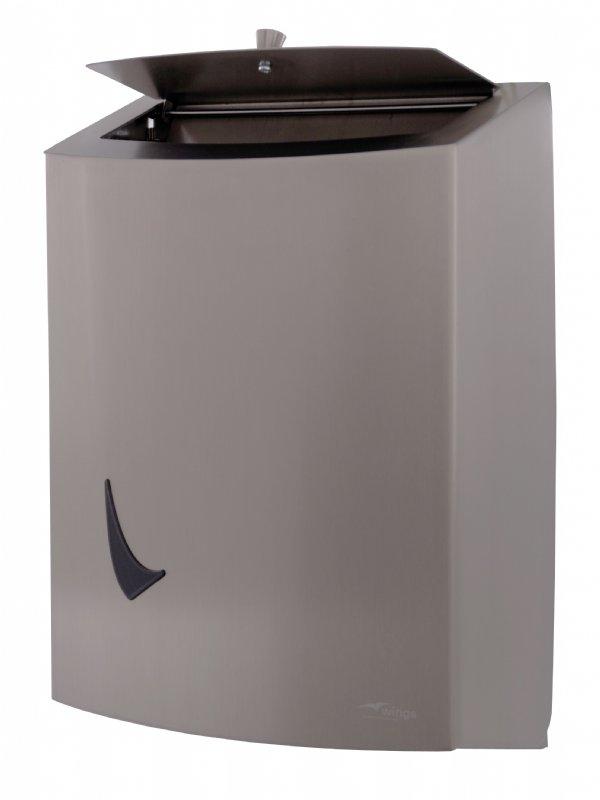 Hygiëne afvalbal 9 liter RVS Wings WINLB9SAL met anti fingerprint coating (1)