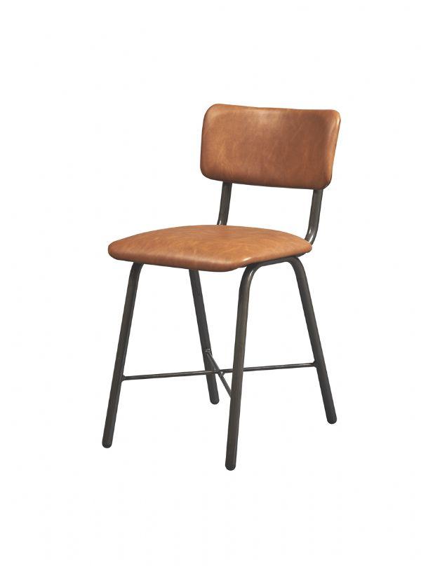 Kantine vintage stoel model 4100 in kunstleder (1)