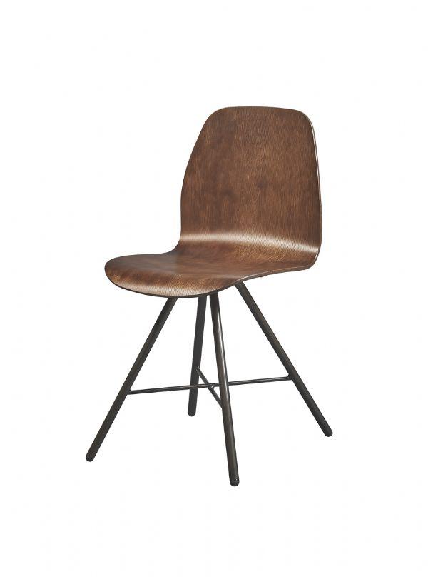 Vintage stoel 4102 eigentijds model in beuken multiplex gebeitst (1)