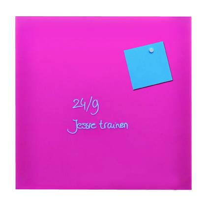 Desq magnetisch glasbord roze, 35x35 cm 4250.03 voor in keuken of op kantoor (1)