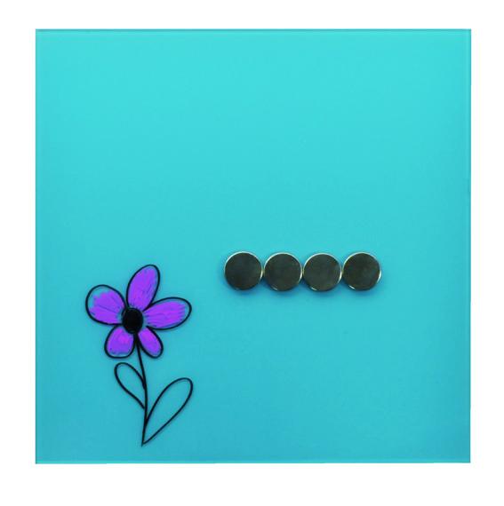 Desq magnetisch glasbord aqua, 35x35cm, 4250.06, voor thuis in de keuken of op kantoor (1)