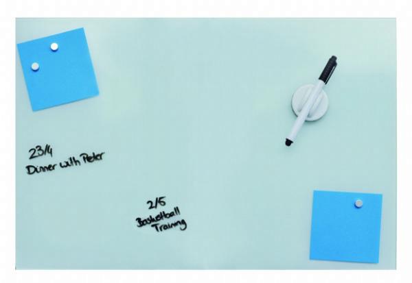 Desq magnetisch glasbord 40x60cm, kleur wit,  4251. Handig voor thuis of op kantoor. (1)