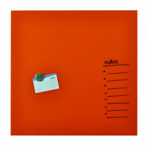 Desq magnetisch glasbord oranje, 45x45cm 4252.02 voor het makkelijk schrijven en uitwissen van tekst (1)