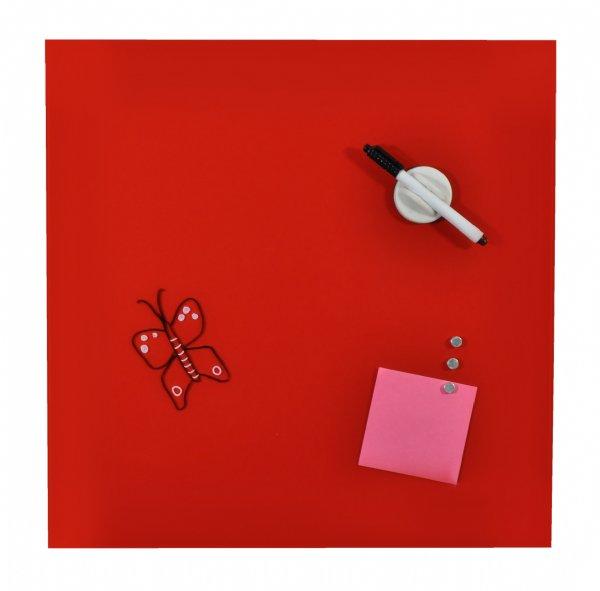 Desq magnetisch glasbord rood, 45x45cm, 4252.03. Handig voor even een notitie maken. (1)