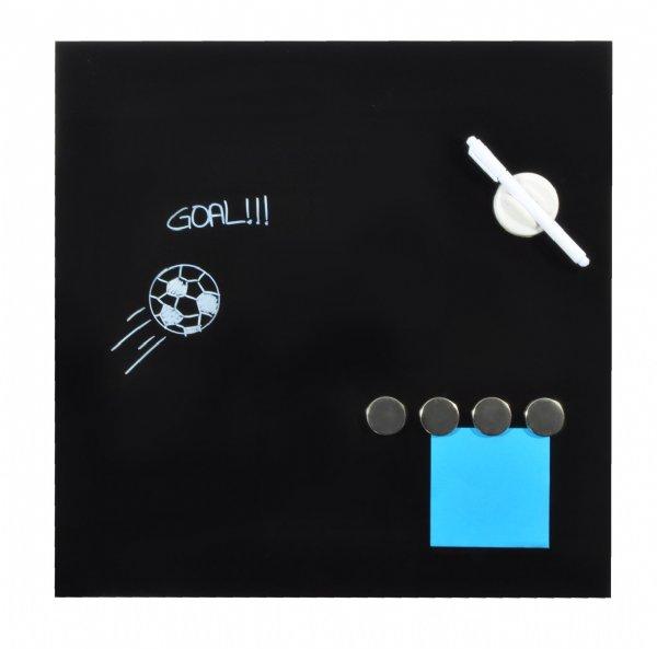 Desq magnetisch glasbord zwart, 45x45 cm, 4252.09, makkelijk beschrijfbaar en uitwisbaar (1)