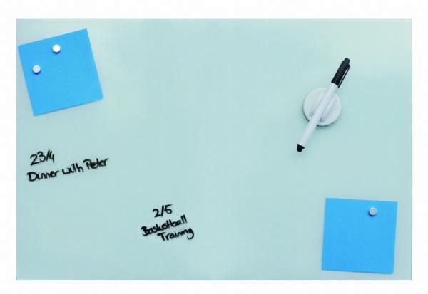Desq magnetisch glasbord wit, 60x90cm 4253.01 ? groot formaat voor veel aantekeningen (1)