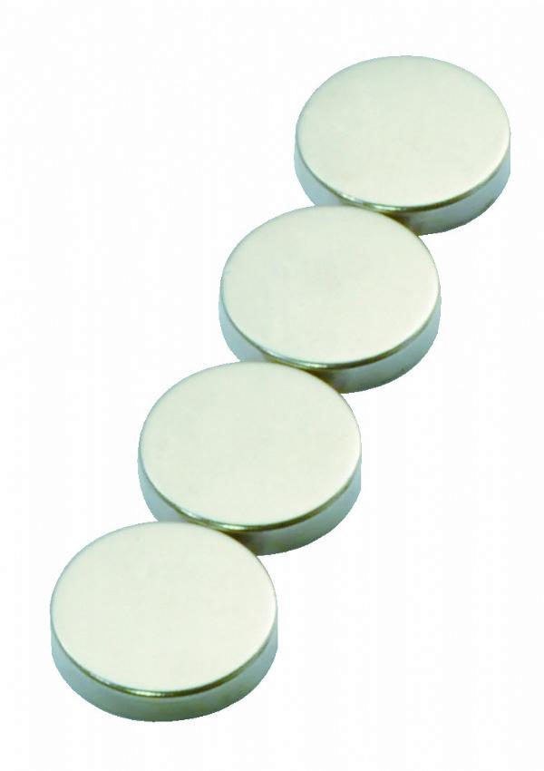 Desq krachtmagneten 30mm, 4 stuks zilver 4281 voor ondermeer glasborden (1)
