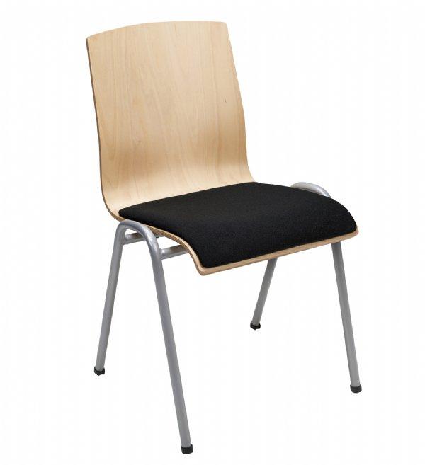 Kerkstoel Style 4422 met gestoffeerde zitting