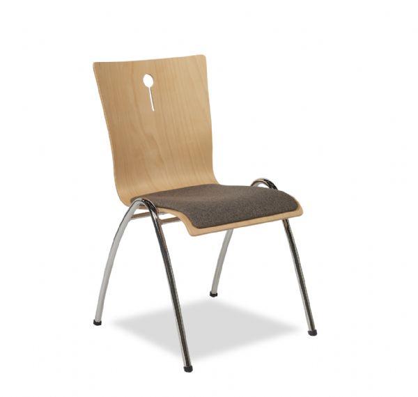 Projectstoel of zaal stoel Style 4462 met gestoffeerde zitting (1)