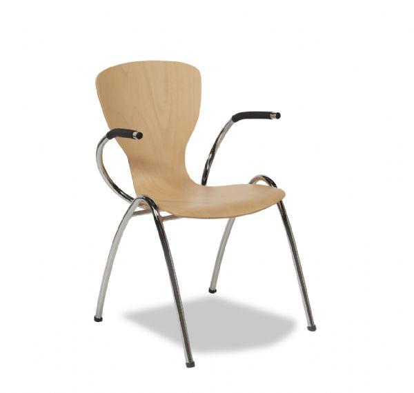 Vlinderstoel style 4471 met armleggers en beuken kuip (1)