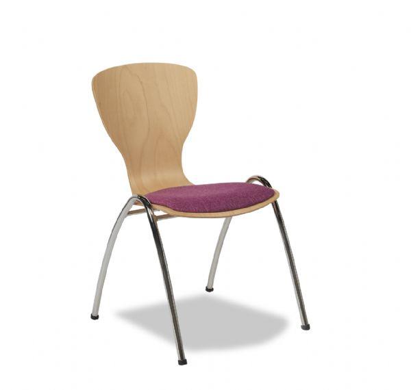 Vlinderstoel of zaalstoel Style 4472 met stoffen zitting (1)